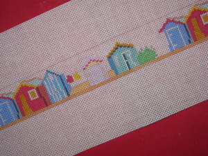 click here to view larger image of Beach Hut Belt (hand painted canvases)