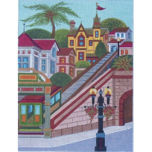 click here to view larger image of Angels Flight, Los Angeles (hand painted canvases)