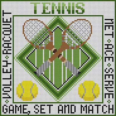 click here to view larger image of Tennis (hand painted canvases)