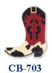 click here to view larger image of Cowhide Boot (hand painted canvases)