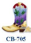 click here to view larger image of Southwest Boot With Spur (hand painted canvases)
