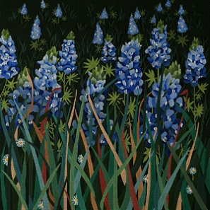 click here to view larger image of Texas Blue Bonnet Meadow (hand painted canvases)