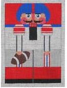 click here to view larger image of New York Giants Nutcracker (hand painted canvases)