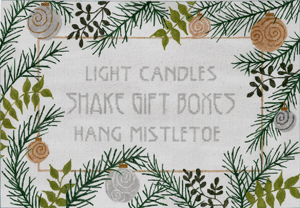 click here to view larger image of Light Candles (hand painted canvases)