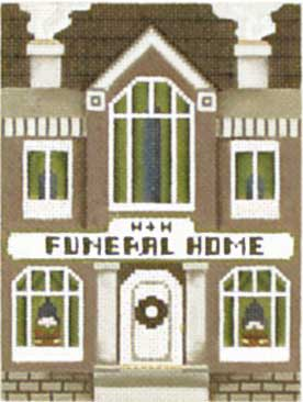click here to view larger image of Funeral Home - Thimble Town (hand painted canvases)