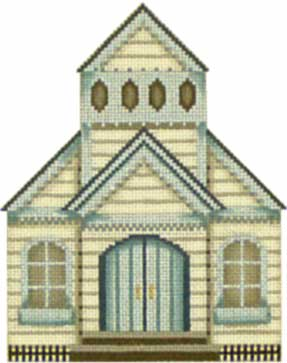 click here to view larger image of Church - Thimble Town (hand painted canvases)