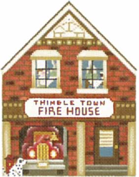click here to view larger image of Fire House - Thimble Town (hand painted canvases)