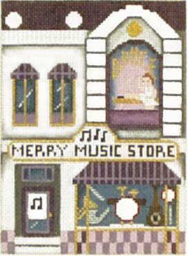 click here to view larger image of Merry Music Store - Thimble Town (hand painted canvases)