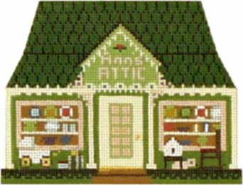 click here to view larger image of Ann's Attic Antique Shop - Thimble Town (hand painted canvases)