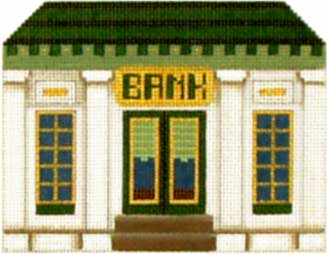 click here to view larger image of Bank - Thimble Town (hand painted canvases)