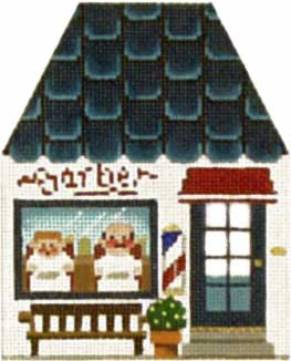 click here to view larger image of Barber Shop - Thimble Town (hand painted canvases)