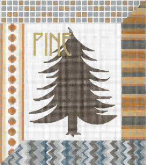 click here to view larger image of Pine (hand painted canvases)