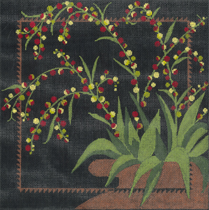 click here to view larger image of Midnight Berries (hand painted canvases)