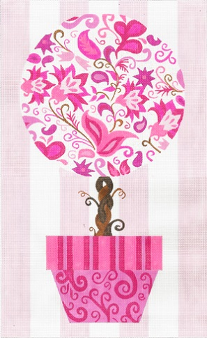 click here to view larger image of Hot Pink Topiary (hand painted canvases)
