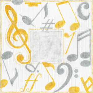 click here to view larger image of Musical Monogram (hand painted canvases)