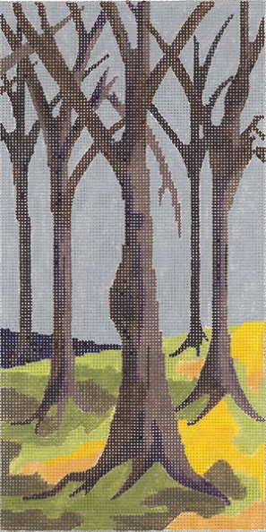 click here to view larger image of The Woods - Center Panel (hand painted canvases)