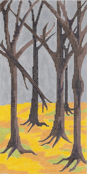 click here to view larger image of The Woods - Right Panel (hand painted canvases)