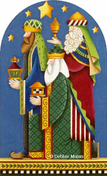 click here to view larger image of Three Wise Men (hand painted canvases)
