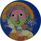 click here to view larger image of Rosenthal Plate (hand painted canvases)