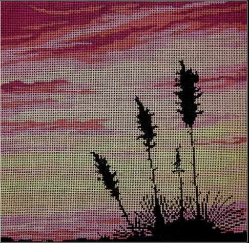 click here to view larger image of Yucca Sunset (hand painted canvases)