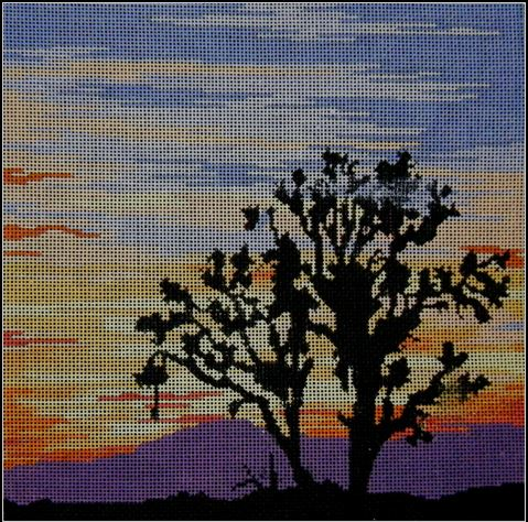 click here to view larger image of Joshua Tree Sunset (hand painted canvases)
