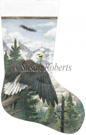 click here to view larger image of Eagle Stocking (hand painted canvases)