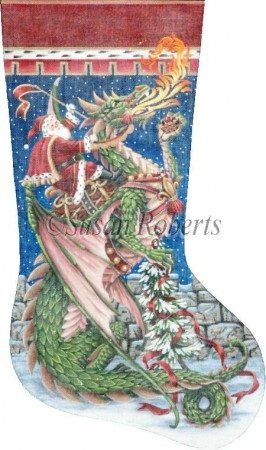 Santa and Dragon Stocking - click here for more details