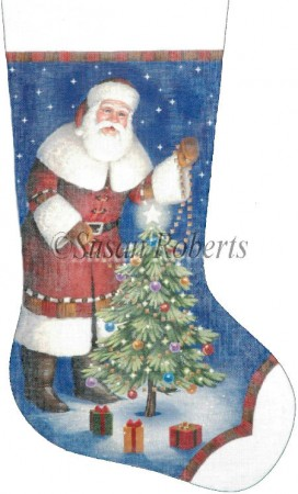 click here to view larger image of Santas Own Christmas Stocking (hand painted canvases)