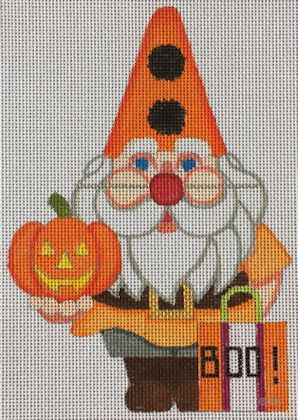 click here to view larger image of Halloween Gnome (hand painted canvases)