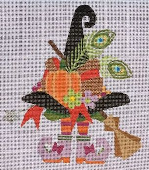 click here to view larger image of Witch Hat and Shoes 3 (hand painted canvases)