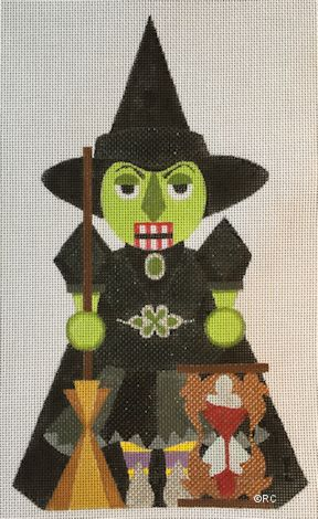 click here to view larger image of Wicked Witch Nutcracker (hand painted canvases)