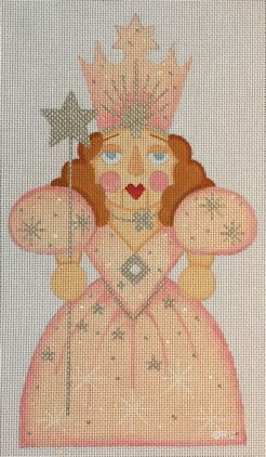 click here to view larger image of Good Witch Nutcracker (hand painted canvases)