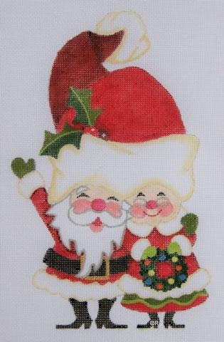 click here to view larger image of Claus Couple (hand painted canvases)