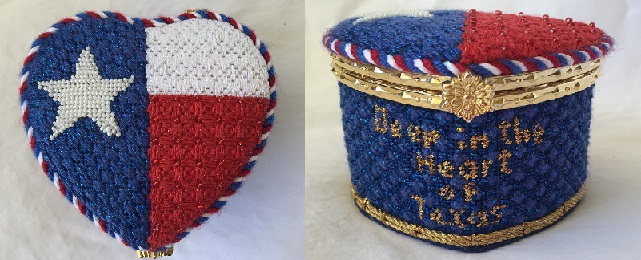 click here to view larger image of Deep in The Heart of Texas Heart Box (Includes Lid Frame) (hand painted canvases)