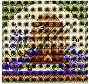 click here to view larger image of Bee Skep in Springtime Garden Stitch Guide (books)