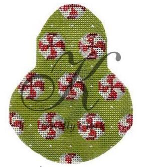 click here to view larger image of Peppermint Candies on Anjou Pear Stitch Guide (books)