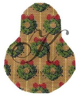 click here to view larger image of Wreath O Green Pear Stitch Guide (books)