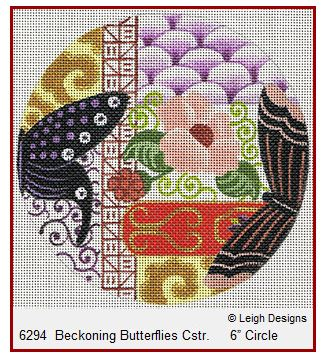 click here to view larger image of Beckoning Butterflies Coaster (hand painted canvases)