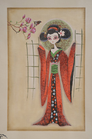 click here to view larger image of Sakura (hand painted canvases)