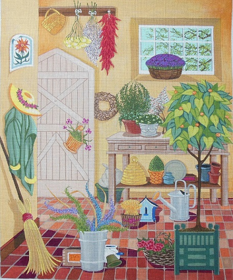 Potting Shed hand painted canvases