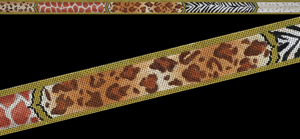 click here to view larger image of Animal Skins Belt (hand painted canvases)