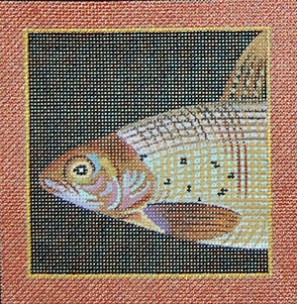 click here to view larger image of Arctic Grayling - Sports Fish Coaster (hand painted canvases)