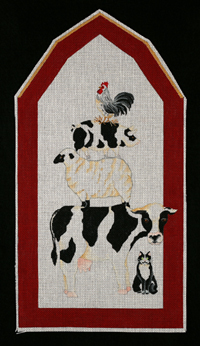 click here to view larger image of Farm Friends Stacked (hand painted canvases)