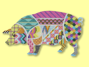 click here to view larger image of Divine Swine (hand painted canvases)