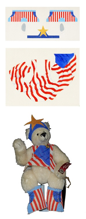 click here to view larger image of American Bear (hand painted canvases)