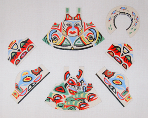 click here to view larger image of First Nation Spirit Bear Doll (hand painted canvases)