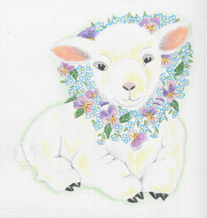 click here to view larger image of Baby Lily Lamb (hand painted canvases)