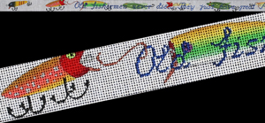 click here to view larger image of Fishing Lures Belt (hand painted canvases)