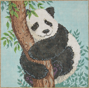 click here to view larger image of Hua Mei Squared (hand painted canvases)