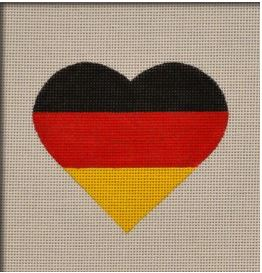 click here to view larger image of German Flag Heart (hand painted canvases)